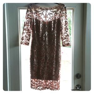Gorgeous shimmery champagne party dress